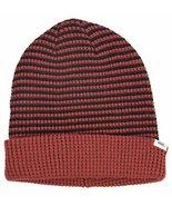 Vans Women's Rainie Striped Beanie Hat Cap-Burdundy/Black-One Size - $11.26