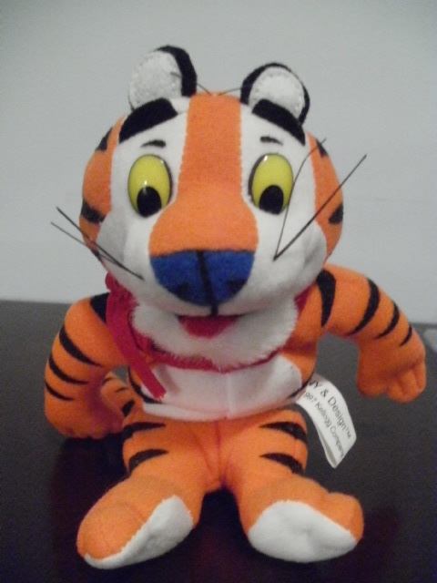 1997 Kellogg's Tony Tiger beanbag~escaped from the bag~new w/tag~Frosty, Flakey