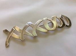 "VTG  Sterling silver 925 ""XXXOOO""  bar pin brooch - $64.35"