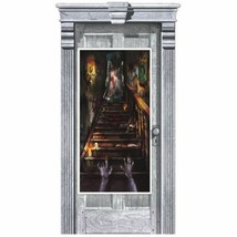 Haunted Mansion Plastic Door Poster Halloween Party Decoration - $3.95