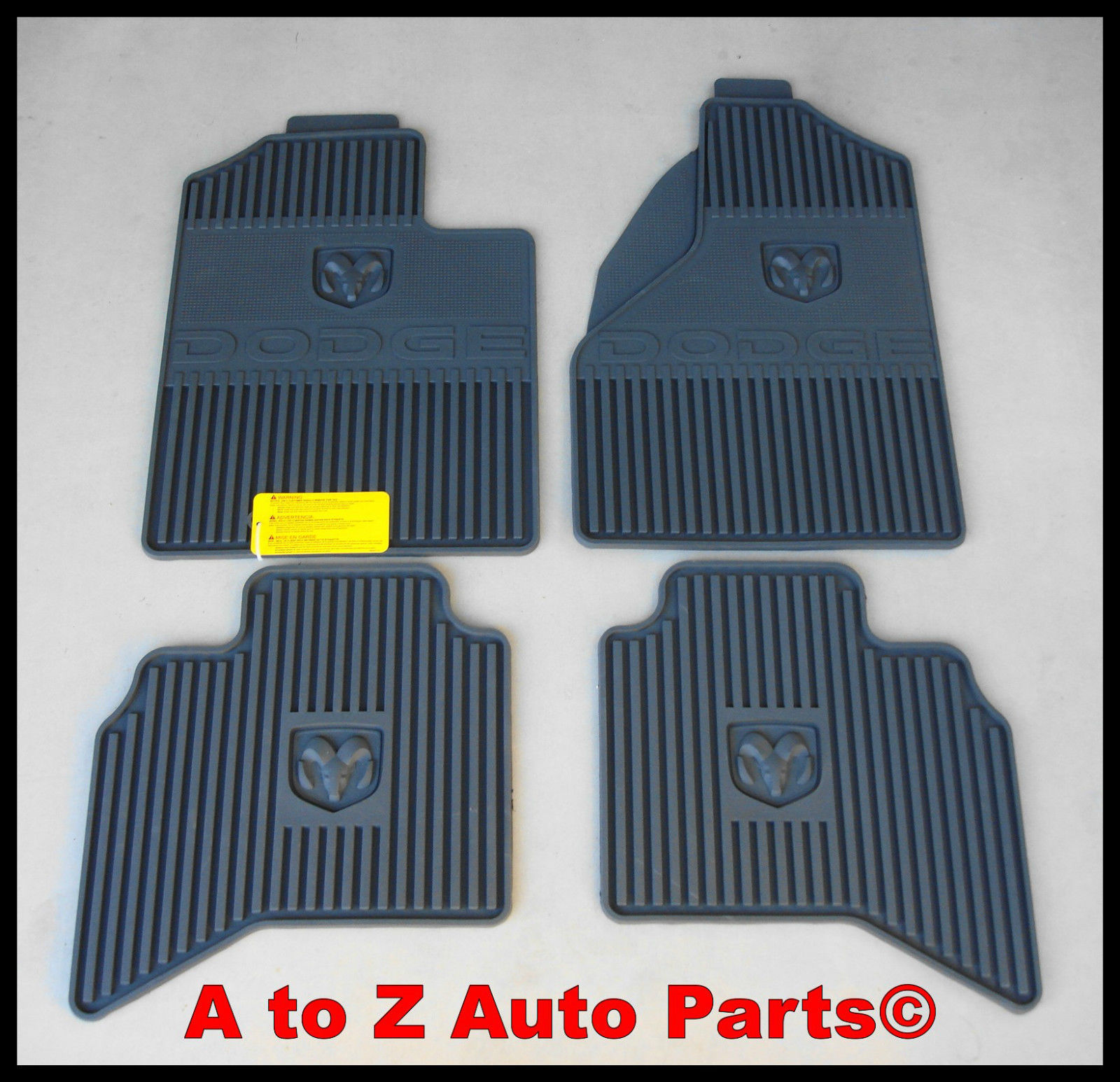 NEW 2006-2008 Dodge Ram 1500-3500 Set of Slush Style RUBBER Floor Mats,OEM Mopar