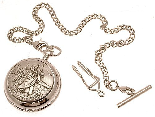 Engraving included - Pocket watch - Solid pewter fronted quartz pocket watch ...