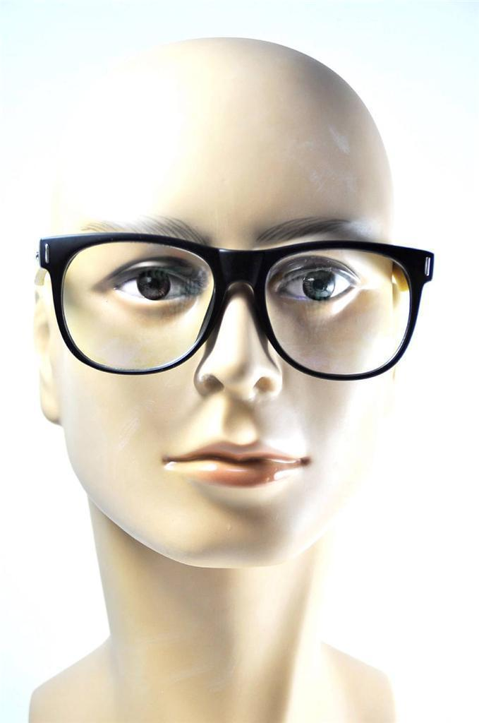 Fashion Handmade Mens Wooden Glasses Broad Face Oversized Eyeglasses Frames Rx