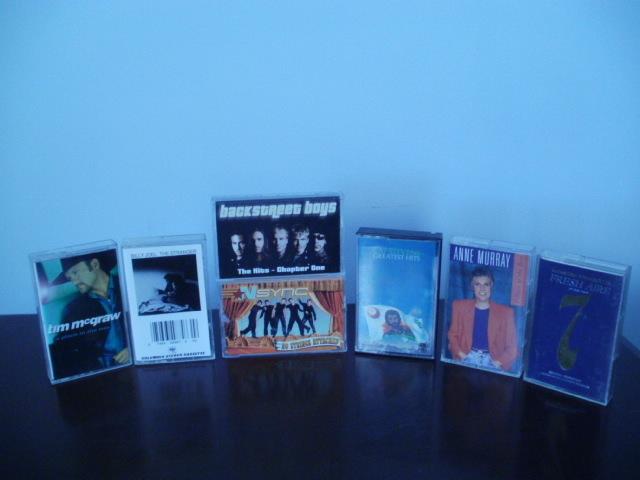 Seven cassette tapes 001