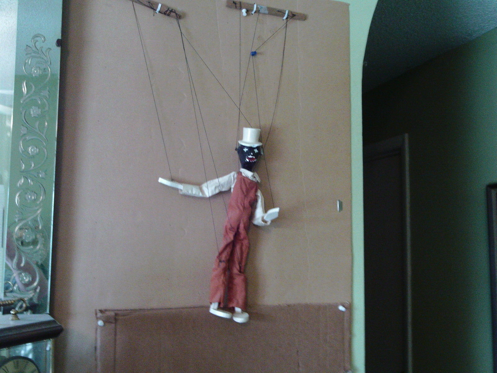 "VINTAGE  MARIONETTE  STRING  PUPPET  13.5 ""  LONG , WITH  THE  ORIGINAL  BOX  !!"