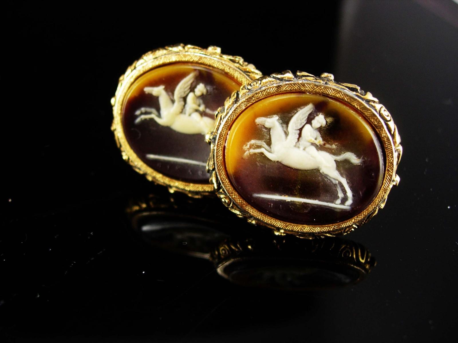 Pegasus Museum Cufflinks Vintage Cupid Mythical Winged Horse Collectors Designer