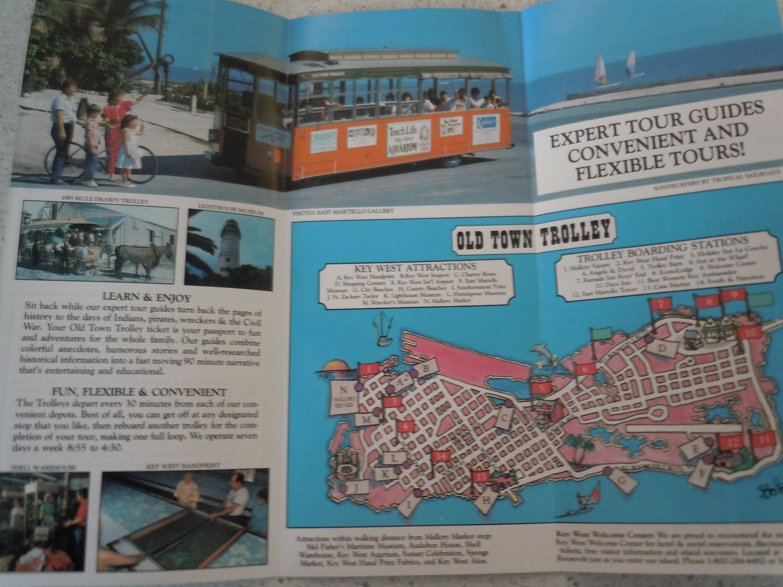 Key West Best Tour Old Town Trolley Tours Brochure 1990
