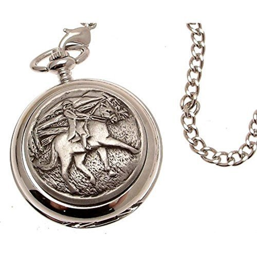 Engraving included - Pocket watch - Solid pewter fronted mechanical skeleton ...