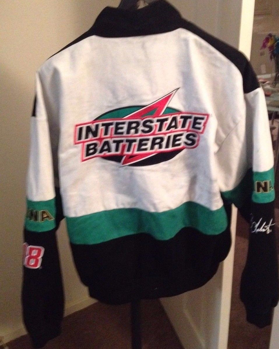 CHASE AUTHENTICS INTERSTATE BATTERIES JACKET MENS SZ L BOBBY LABONTE EMBROIDERED
