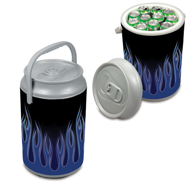 Mega Can Shaped Cooler - Blue Flame