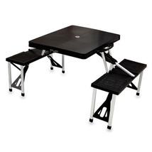 Folding Picnic Table w/ Seats - Black/Silver - $109.95