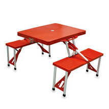 Folding Picnic Table w/ Seats - Red - $109.95