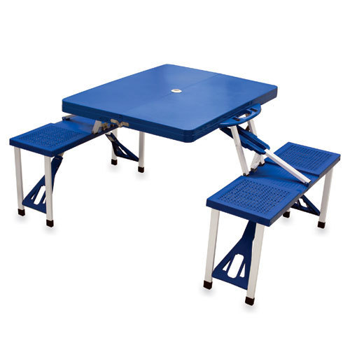 Folding Picnic Table w/ Seats - Royal Blue