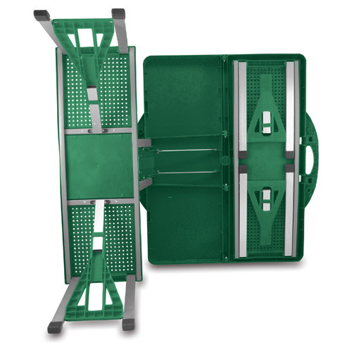 Folding Picnic Table w/ Seats - Hunter Green
