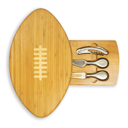 Quarterback - Football Shaped Cheese Board w/ Tools