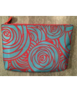 IPSY March 2016 Glam Bag Blue Orange Roses Floral Print Cosmetic Makeup... - $5.99