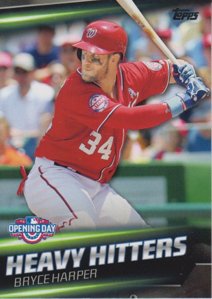 Bryce Harper 2016 Topps Opening Day Heavy Hitters Card #HH-1