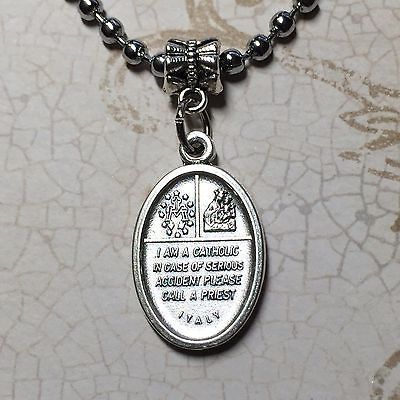 4 Four Way Cross Jesus Catholic Religious Protection Medal Pendant Silver Tone