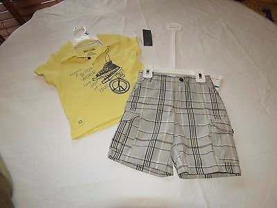 Boys Baby Kenneth Cole Reaction shorts polo shirt 24 MO months DAMAGED spots NEW
