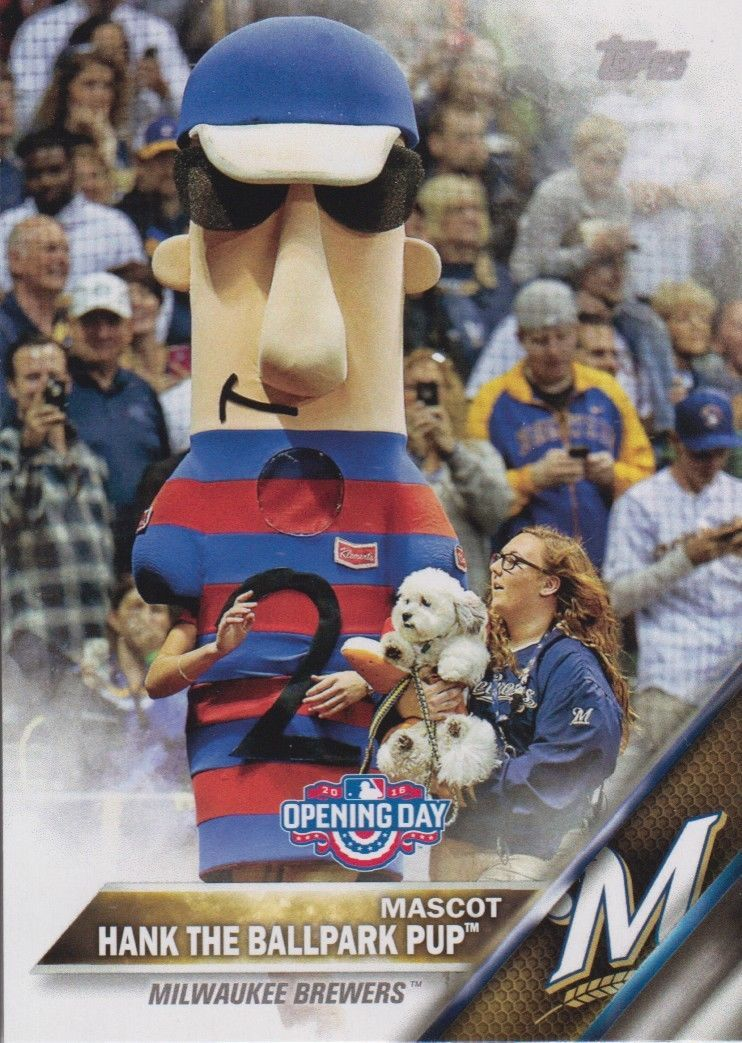 Hank The Ballpark Pup 2016 Topps Opening Day Mascot Card #M-15