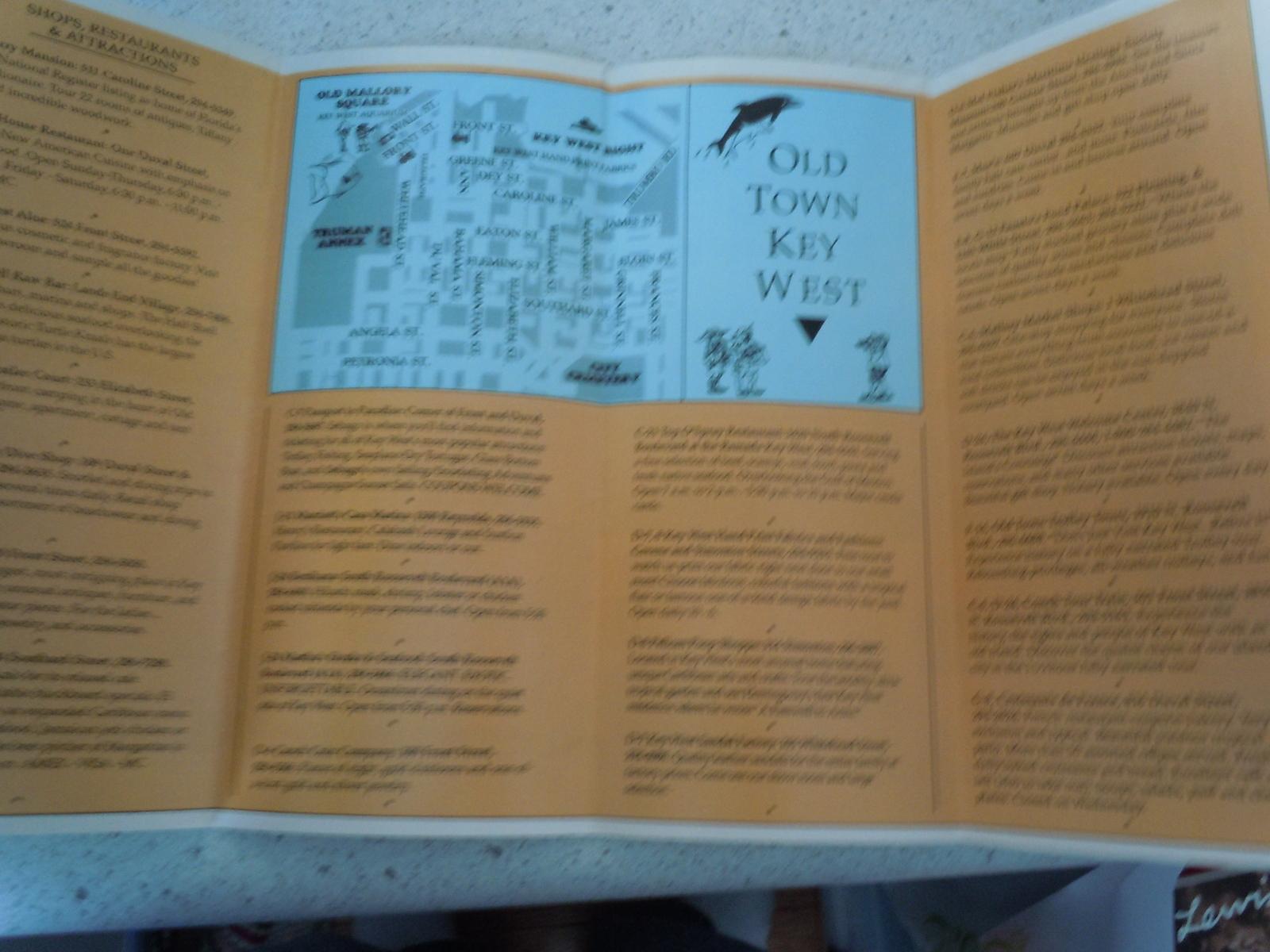 See The Best of Key West Brochure 1990