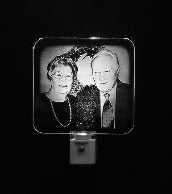 Personalized Photo Etched LED Night Light - Engraved Acrylic
