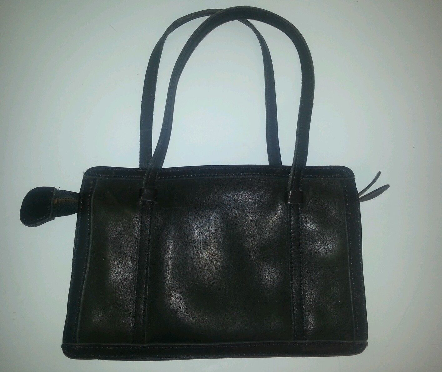 c45d329939fa TANO Vintage Black Deep Brown Leather Purse and 50 similar items