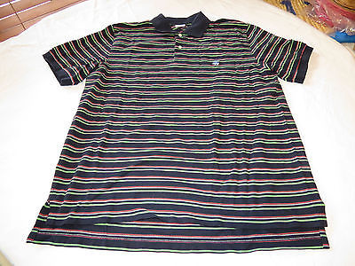 Mens Brooks Brothers L navy Knit cotton Performance polo shirt Men's adult EUC @