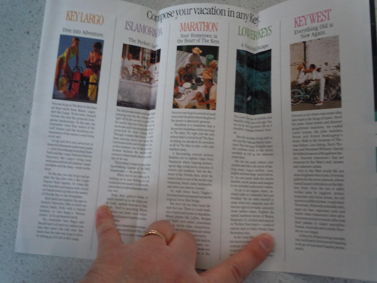 The Florida Keys and Key West Brochure 1990
