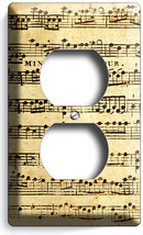 ♫ Sheet Music Old Retro Musical Notes Electrical Outlet Wall Plate Cover Studio - $8.99