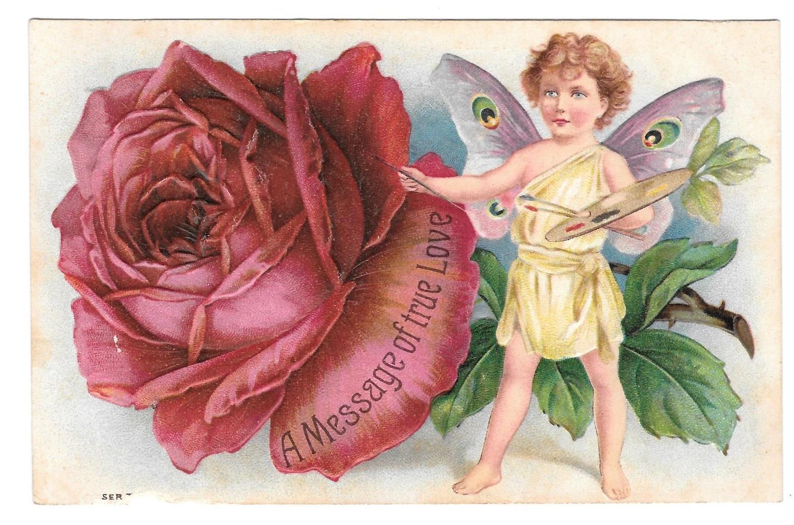 98 br 209 568  valentine message true love rose butterfly child palette