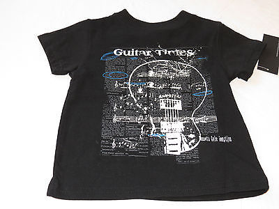 Boys Baby Kenneth Cole Reaction t shirt 18M MO months NEW black guitar times
