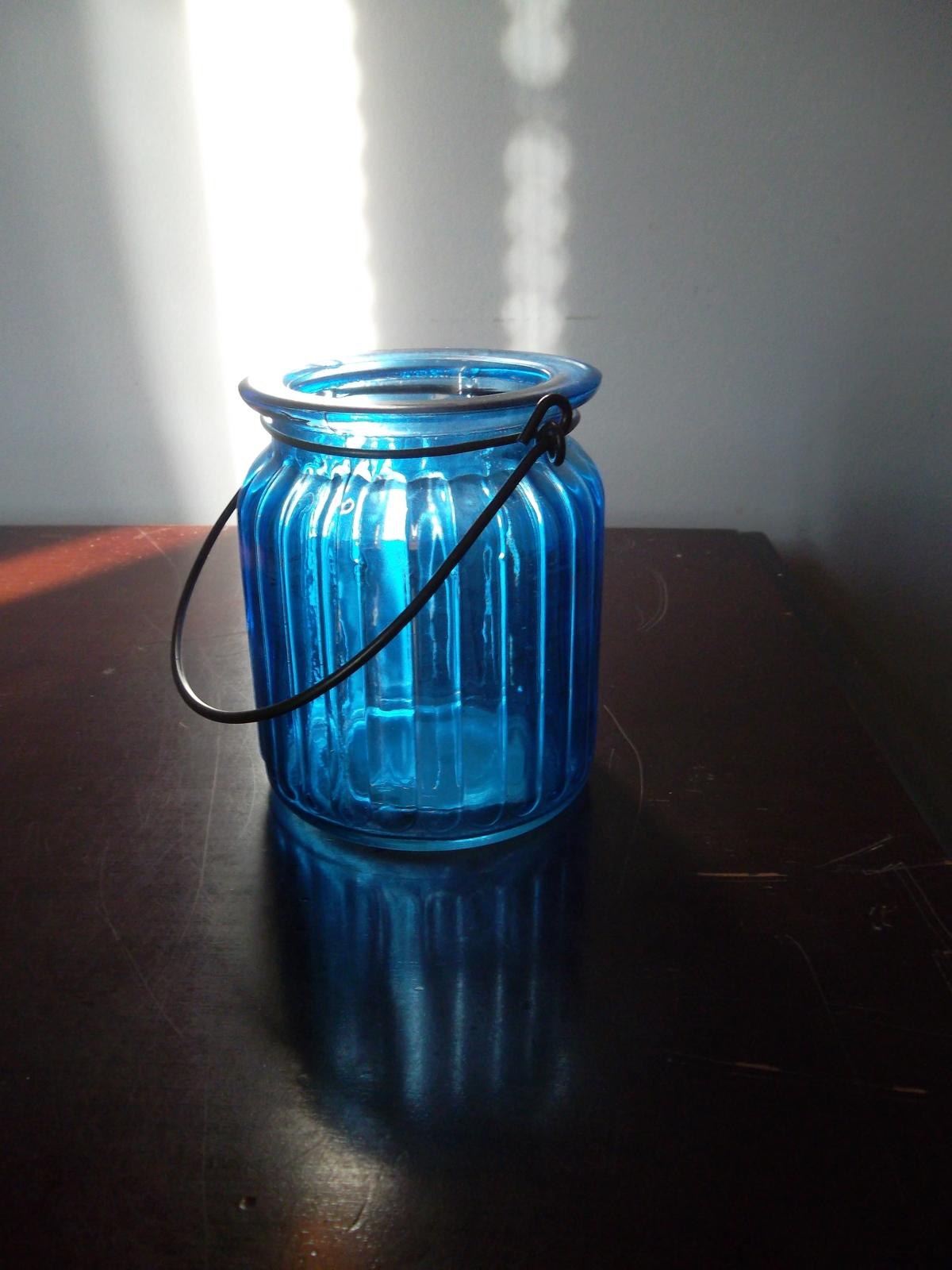 Blue jar candlw holder audrey 001