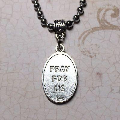 Saint Christopher Travel Travelers Protection Medal Pendant Silver Tone Catholic