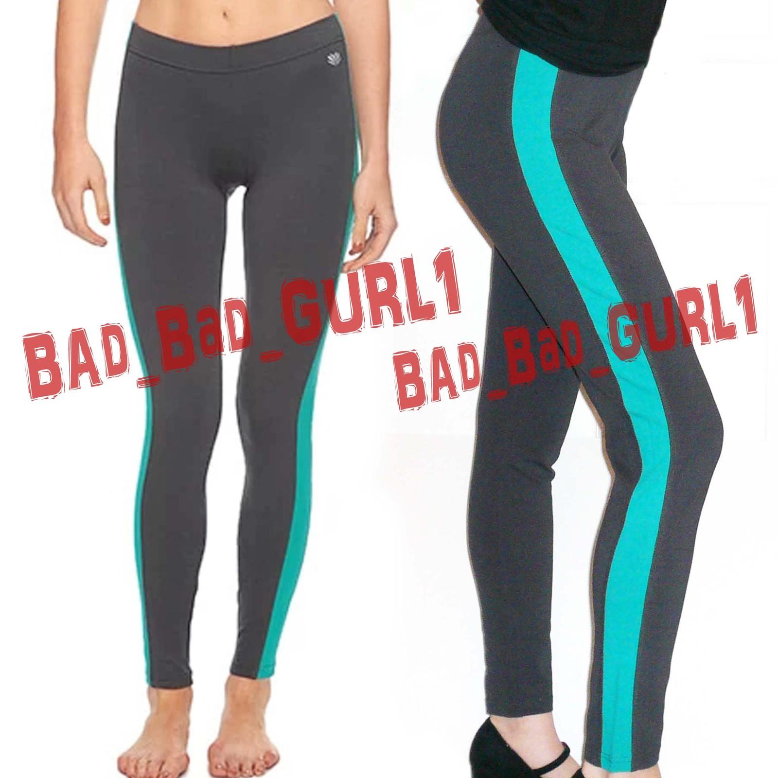 Forever21 contrast panel colorblock skinny gym leggings athletic jeggings pants  4