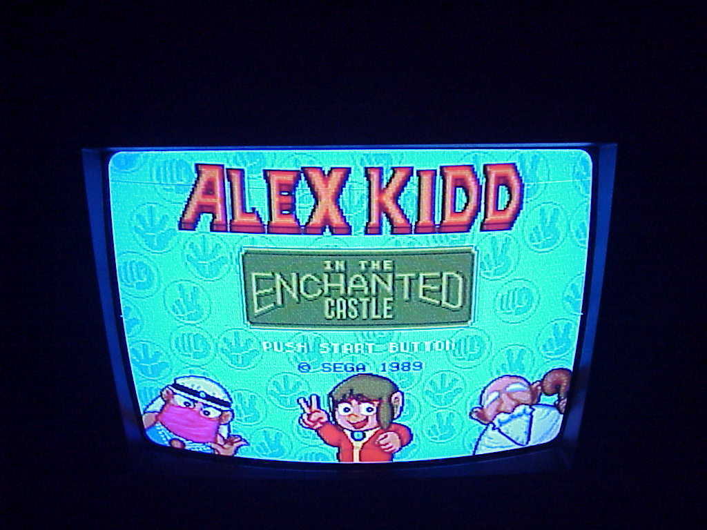 Sega Genesis Alex Kidd in the Enchanted Castle Game Cartridge, instructions case