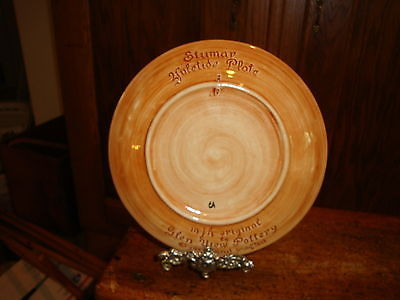 Old Canal 1971 Christmas Plate Original Glen View Pottery Hand Crafted