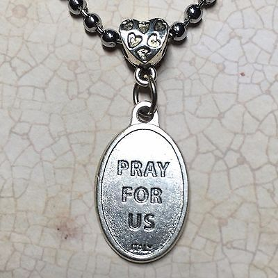 Our Lady Untier Undoer of Knots Protection Italian Medal Catholic Silver Tone