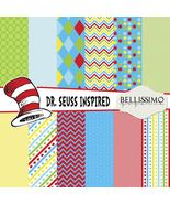 Dr. Seuss Inspired Paper Pack: Scrapbook Paper, PRINTED, 12 Sheets - $6.50