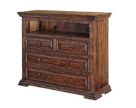 Rustic Mauve 4 Drawer Media Chest Solid Wood Lodge Shabby Chic - $895.90