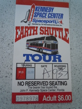 Kennedy Space Center Spaceport USA Earth Shuttle Tour Florida Used Ticket  - $3.99
