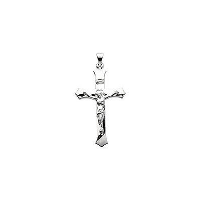 """Crucifix 18"""" Necklace In Sterling Silver (39.00x25.50mm)"""