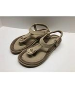 Blue Womens Comfy Blue Sandals Size 9 EU 40 UK 6 Never Worn Beige - $22.72