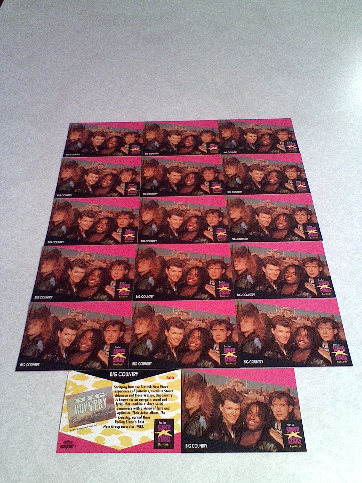 ***BIG COUNTRY***  Lot of 17 cards / MUSIC