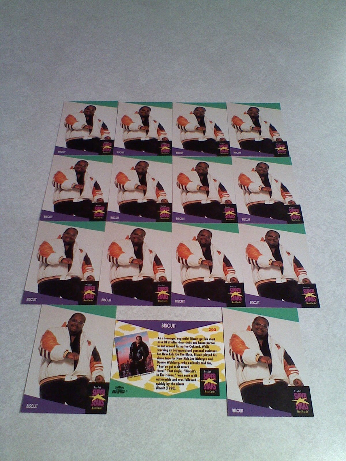 ***BISCUIT***  Lot of 15 cards / MUSIC