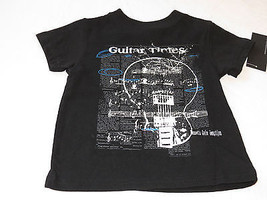 Boys Baby Kenneth Cole Reaction t shirt 24M MO months NEW black guitar t... - $17.79