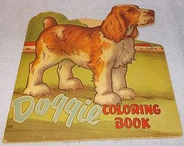 Vintage Saalfield Doggie Coloring Book 1950 unused Cocker Spaniel - $6.00