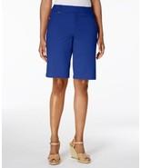 Charter Club Women's Twill D Ring Hardware-Trim Shorts Modern Blue Size ... - $23.75