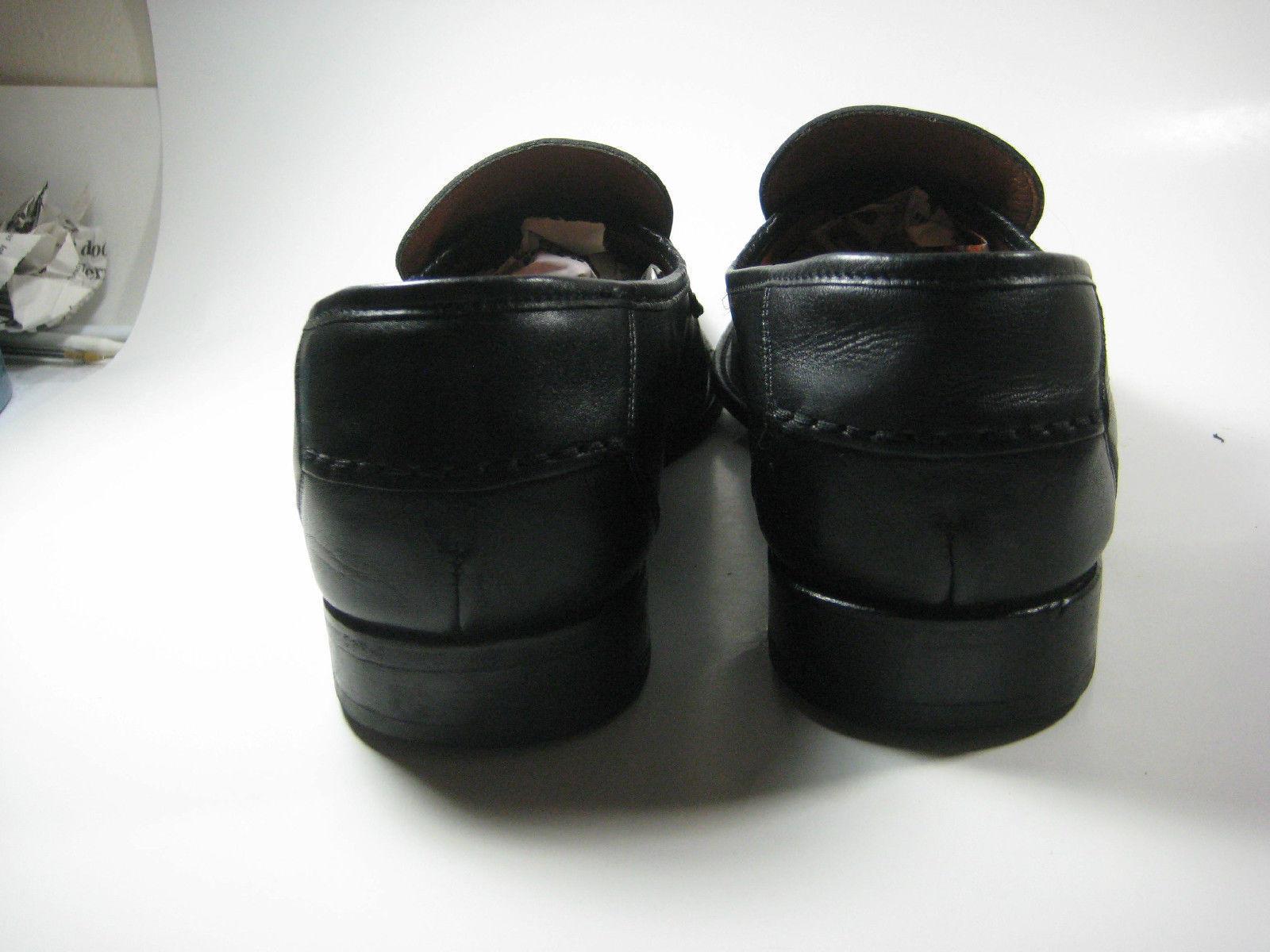 MICHEL US 9.5 EU 43 Rich Black Leather Loafers Spain  RARE