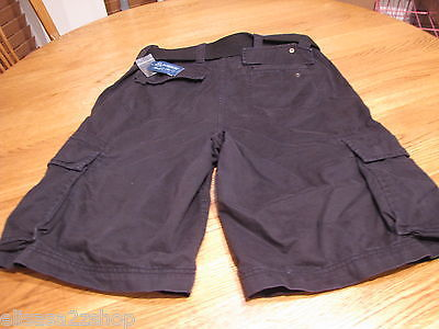 American Rag men's cargo shorts with belt casual NEW black sea 28 121300BLK NWT